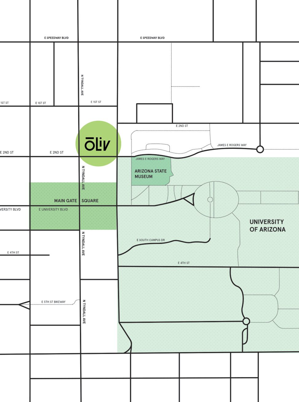OLIV Tucson Location Map