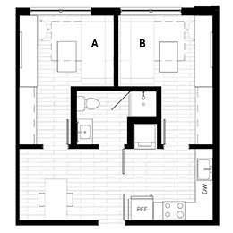 Rendering for 2X1 Murphy A Penthouse floor plan