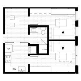 Rendering for 2X1 Murphy B Oasis floor plan