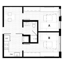 Rendering for 2X1 Murphy B Penthouse floor plan