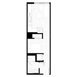 Rendering for Studio 2 floor plan