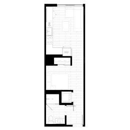Rendering for Studio 2 Penthouse floor plan
