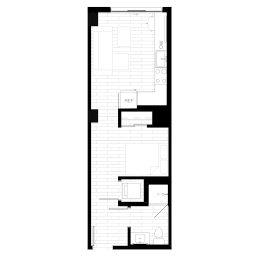 Rendering for Studio 3 floor plan