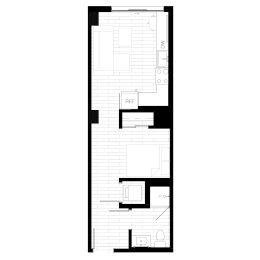 Rendering for Studio 3 Oasis floor plan