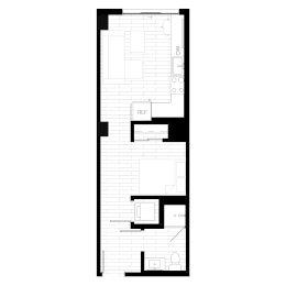 Rendering for Studio 3 Penthouse floor plan